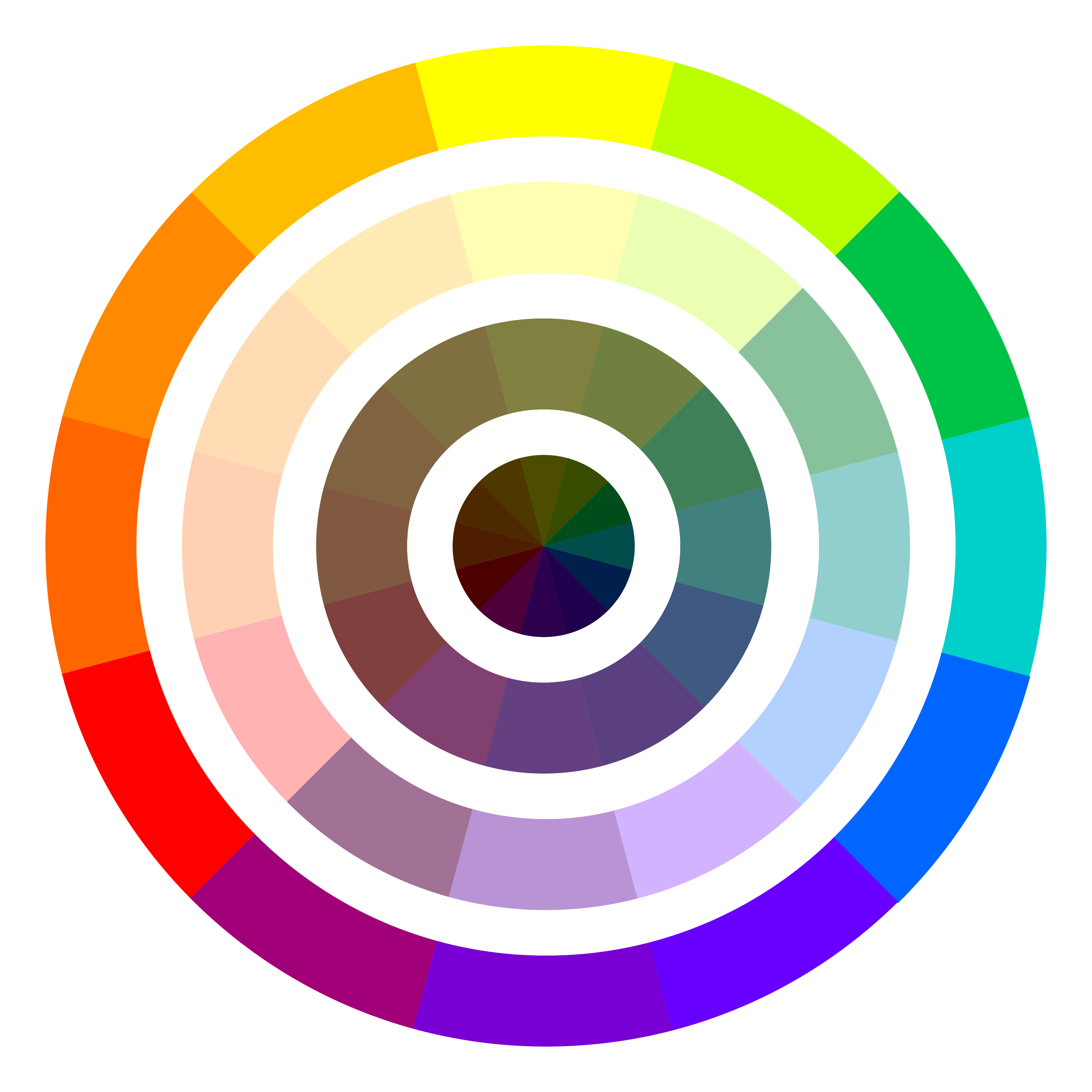Image 1 Achromatic 2 Analogous Cool 3 Complementary 4 Basic Primary 5 Warm 6 Color Wheel